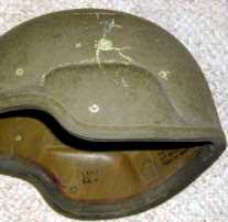 Helmet Shot with 9 mm