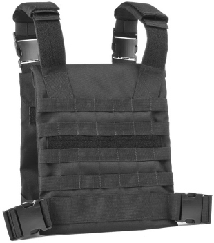 Covert MOLLE Rifle Plates Carrier  -  Front