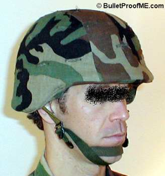 Military Surplus Kevlar Helmet with Camo Cover
