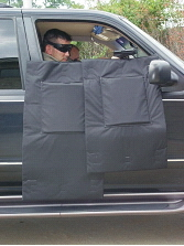 Tactical Ballistic Blanket  - Vehicle Door Mounting