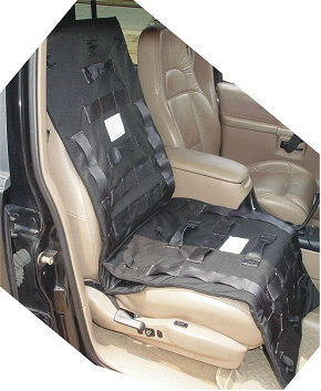 Tactical Ballistic Blanket  -  On  Vehicle Seat